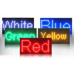 Led display screen-Pantalla-rotúlo-cartel LED programable 99x20x5cm
