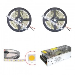 Kit tira LED 10M 5050 6000K IP20 + fuente 150W 12.5A