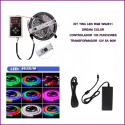 Tira LED 5050 No Impermeable IP20 300LED RGB MAGIC